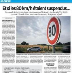 avocat droit routier 80 km/h